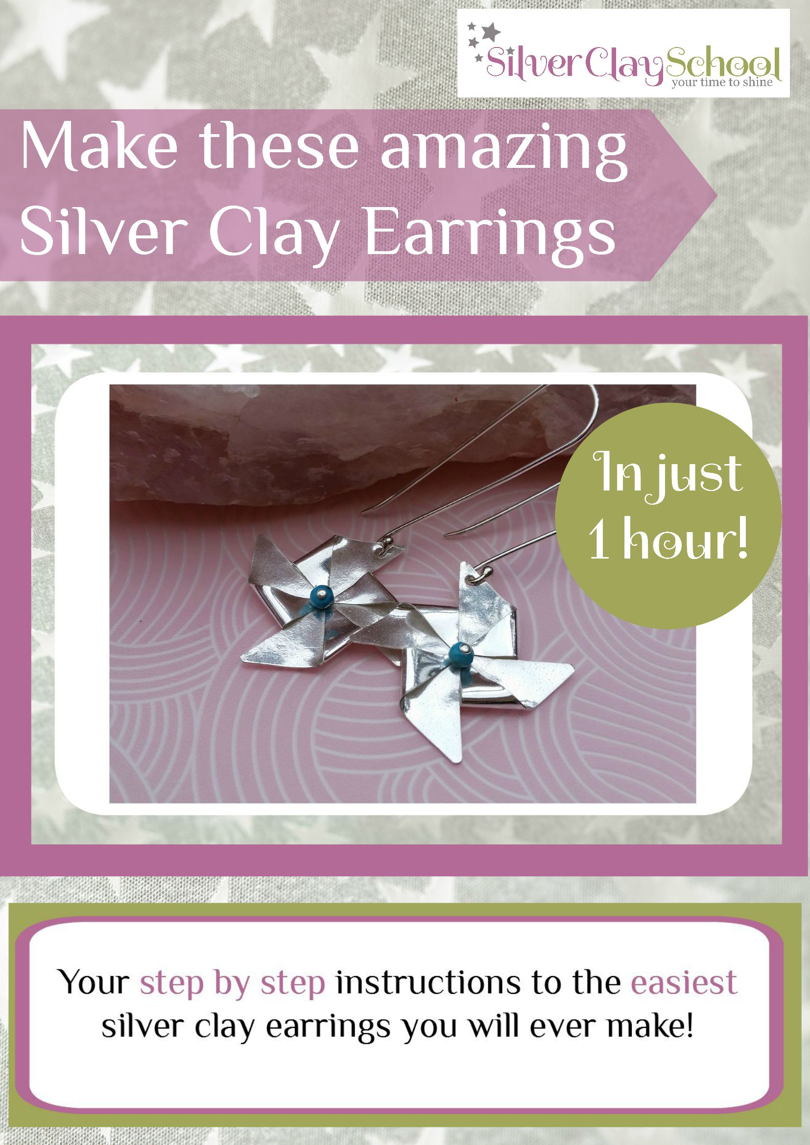 How To Make Book Cover Earrings ~ Your fabulous freebie silver clay school