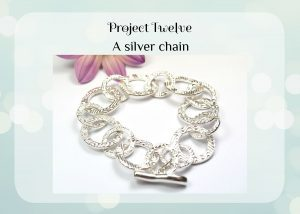 Project 12 a silver clay bracelet.