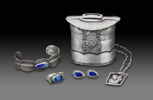 Janet Alexander Silver box - jewellery shown